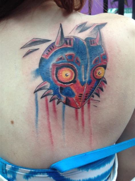 majora s mask tattoo majora s mask by xxkimraxx on deviantart