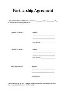partnership agreement articles of partnership