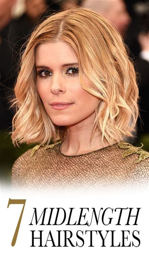 7 easy ways to style midlength hair lob heavy bangs and bangs bobs style and kate mara on pinterest