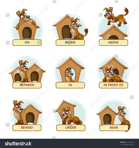 puppy preschool near me different poses illustrate stock vector 334754270