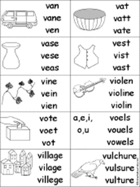 words with the letter v circle the words that start with v enchantedlearning 1741