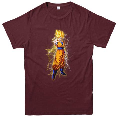 Goku Tees goku saiyan lightning t shirt z