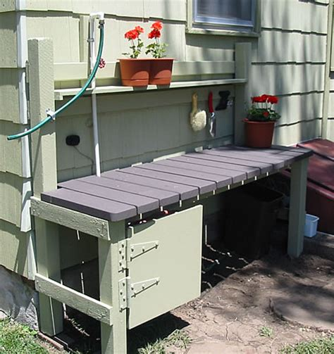 garden tool bench potting bench