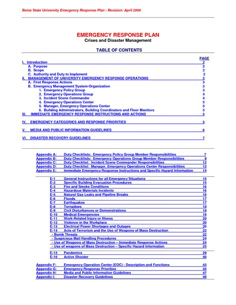 emergency response policy template beautiful incident response policy template photos