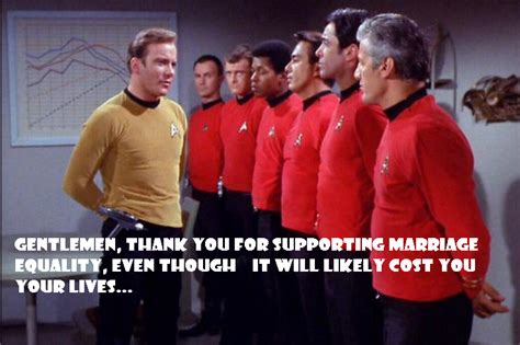 Red Shirt Star Trek Meme - redshirts for marriage equality