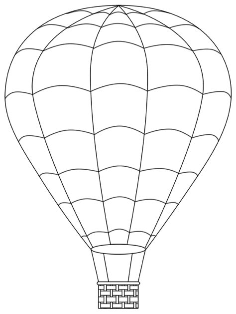 hot air balloon template www imgkid com the image kid