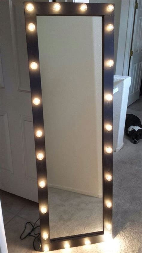 length mirror with lights length lighted vanity mirror by kateyedesigns on etsy