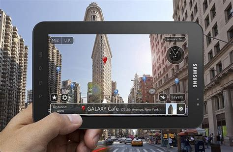 Layar Samsung Tab 2 tablets are great to play immersive augmented reality layar
