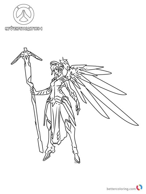 libro overwatch coloring book mercy from overwatch coloring pages free printable