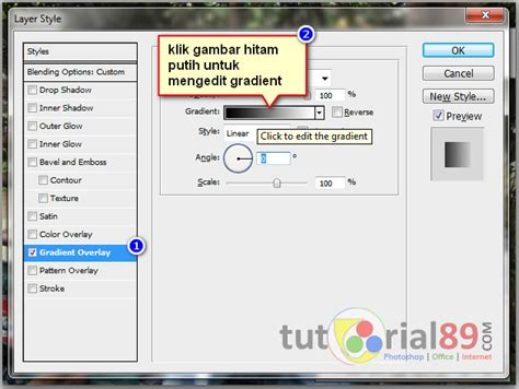 tutorial membuat gambar transparan di photoshop cara membuat gradient kontras transparan di photohsop