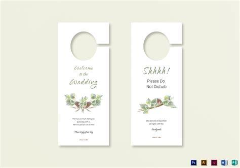 door hanger template indesign fall wedding door hanger template in psd word publisher