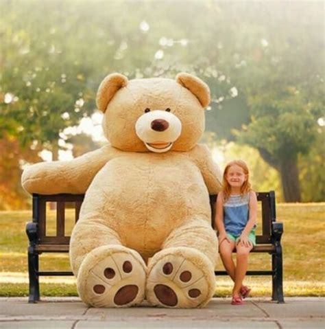 huge giant teddy bear 93 quot high quality plush life size