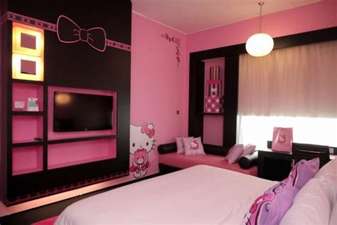 Wood Wall Ideas 25 adorable hello kitty bedroom decoration ideas for girls