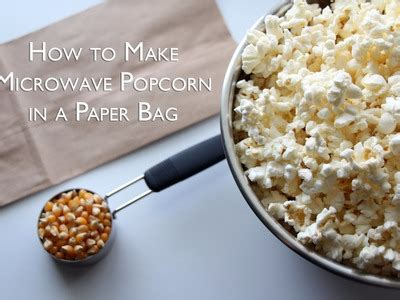 How To Make Microwave Popcorn In A Paper Bag - how to make a colorful mini chest of drawers using