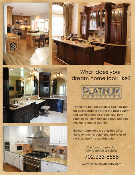 kitchen cabinet advertisement platinum cabinetry s flyer ideas clark county graphics