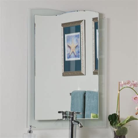 Shop Decor Wonderland Tula 23 6 In X 31 5 In Frameless Frameless Mirror Bathroom