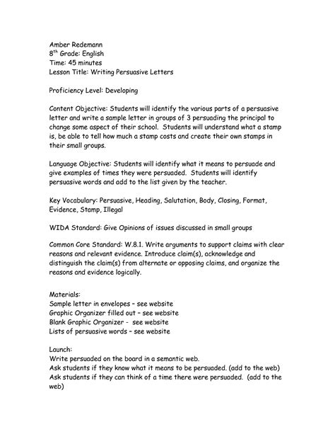 Ks2 Cover Letter Exle Of A Persuasive Letter Ks2 Cover Letter Templates