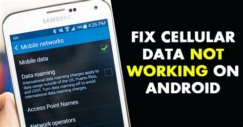 not working android fixed how to fix cellular data not working on android