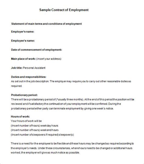 employee contract template uk employment agreement template uk 11 contract templates