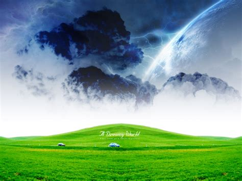 wallpaper green world green dreamy world wallpapers hd wallpapers id 6536