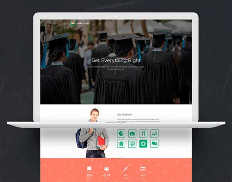 education website template free psd download download psd