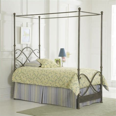 bed in german largo furniture cutlass canopy bed in german silver