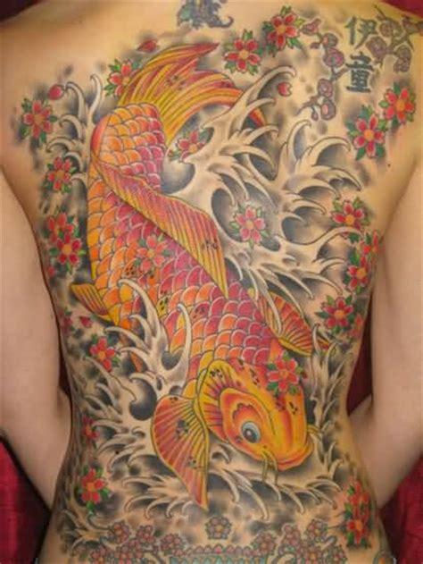 japanese back tattoo koi best koi fish awesome japanese tattoo design on full body