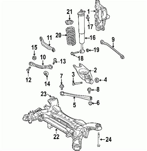 2006 Chrysler Pacifica Parts by Parts 174 Chrysler Spacer Cradle Partnumber 4766746aa