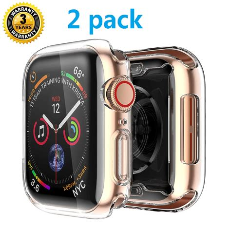 Apple Series 4 Zoomed In by For Apple Series 4 Screen Protector 44mm 2018 New Iwatch Overall Protective Tpu