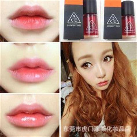 Liptint Pumpkin Korea korea 3cestylenanda three eye liquid lip gloss lip stain liquid water can be used as blush lip