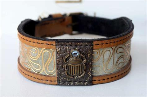Handmade Collars Australia - khepri designer collar harakhan kennel
