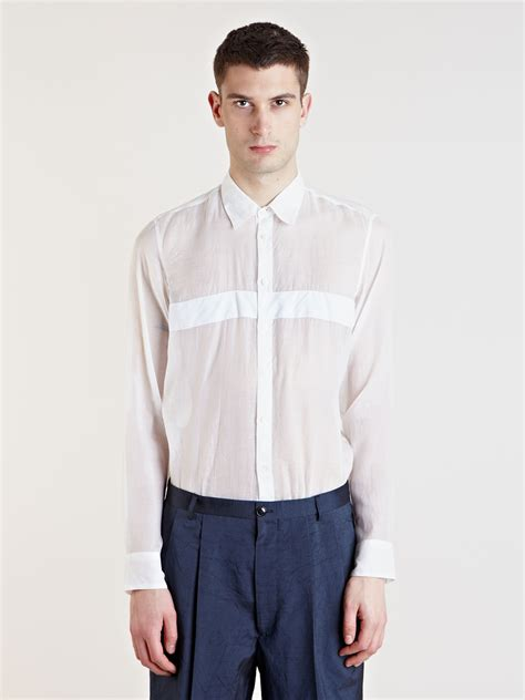 lyst dries noten cino shirt in white for