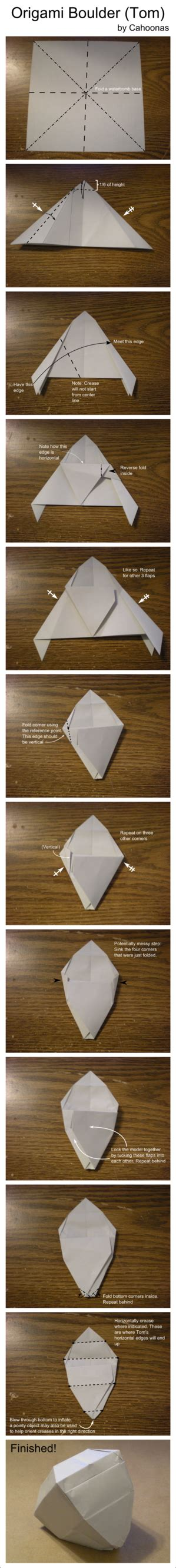 Origami Rock - origami rock tom diagram by cahoonas on deviantart