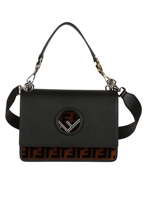 Fendi Kan I Shoulder Bag fendi fendi kan i f shoulder bag black s shoulder bags italist