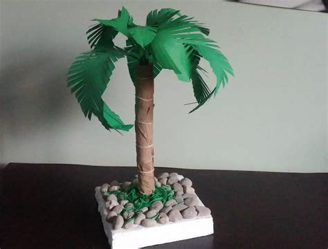 How To Make Paper Tree - palm tree how to make a paper palm tree diy home decor