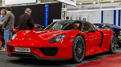 porsche 918 red red porsche 918 spyder at interclassics show youtube