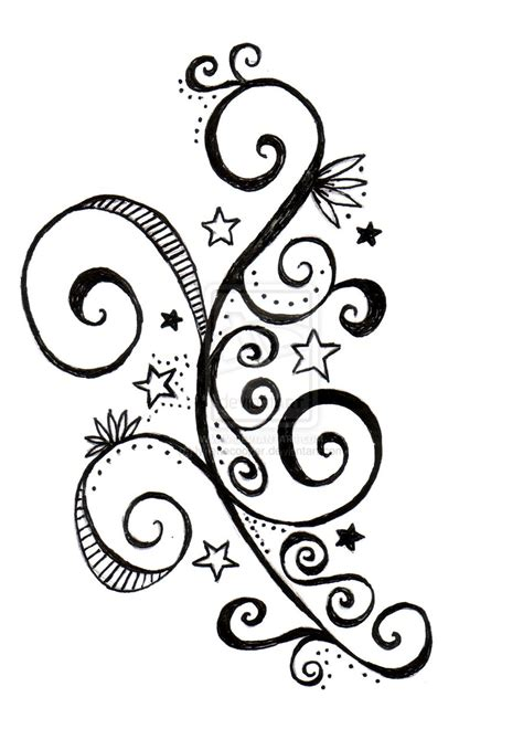 stars with swirls tattoo designs and swirls design by lynettecooper on deviantart