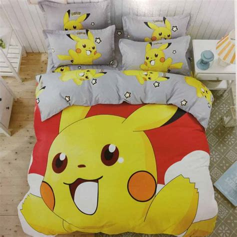pokemon bedding queen pokemon bedding set cotton bedlinen pillowcase duvet cover