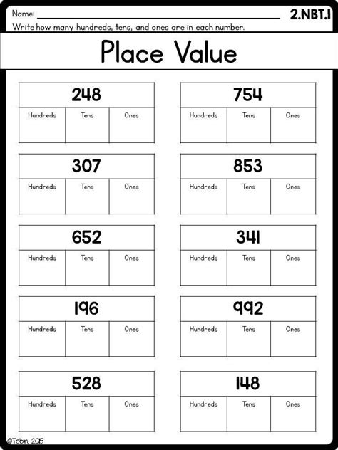 Printable Second Grade Math Worksheets