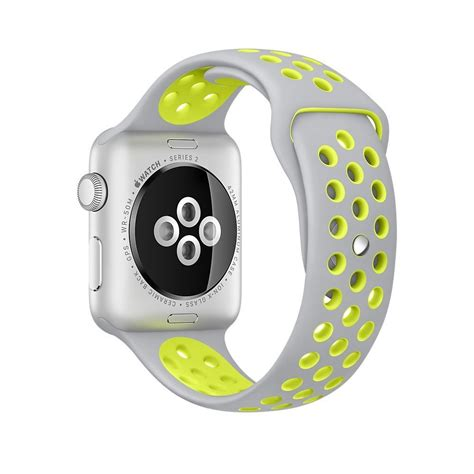 Apple 2 Nike 38mm Water Resistance Aluminium Sport Silvervolt 2016 new 10 colors silicone for iwatch series1 2 apple nike 42mm rubber sport