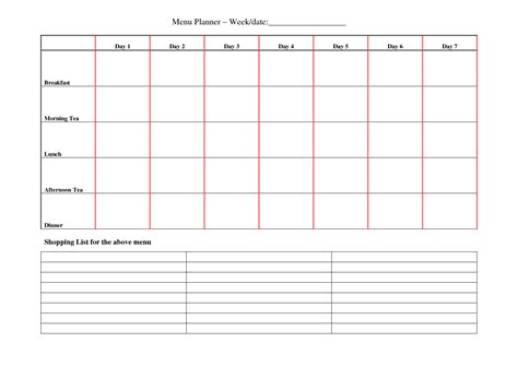 weekly planner 2014 template search results for weekly meal planner template