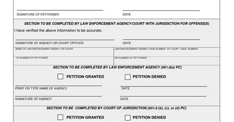 Seal My Criminal Record Arrest Record Template Ca Criminal Petition To Seal