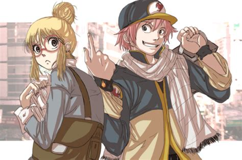 fairy tail boat guys the writer and the delivery boy by nishi06 on deviantart