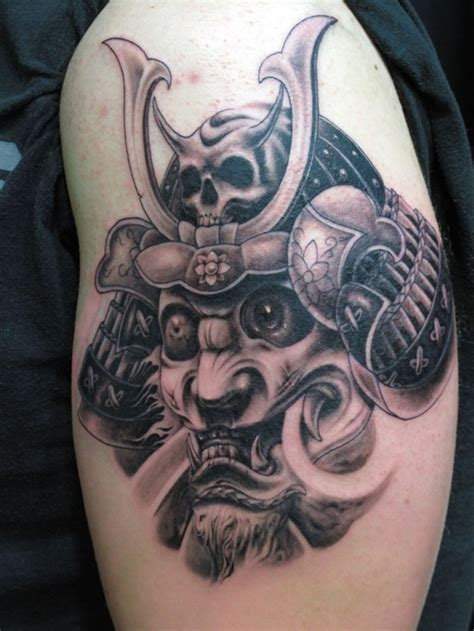 samurai helmet tattoo design tribal tattoos tattoo ideas