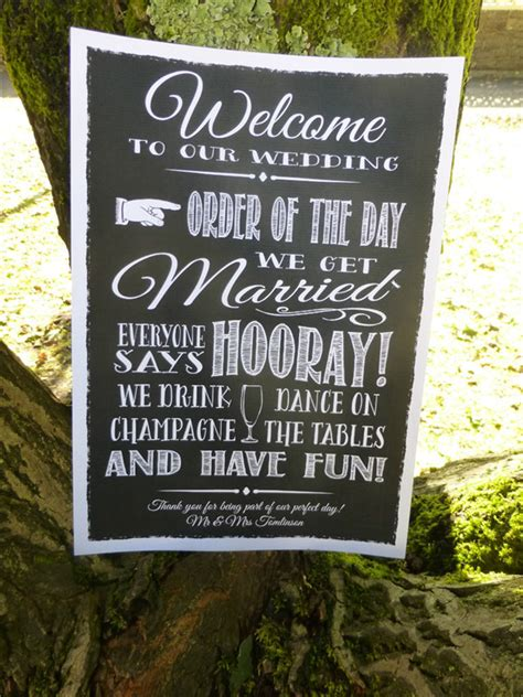 wedding signs 20 wedding sign ideas your wedding guests will