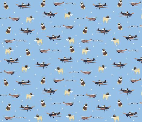 pug fabric aviator pug fabric clevergirlstudio spoonflower