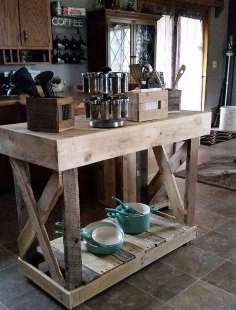 lada di wood portatile barra desayunador aparador en madera pallet rustico 5