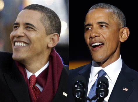 biography of barack obama before presidency before and after how much the presidency has aged barack