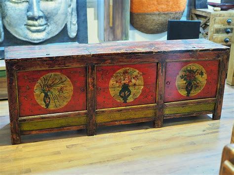 credenza etnica credenza etnica dipinta a mano 800 colorata legno