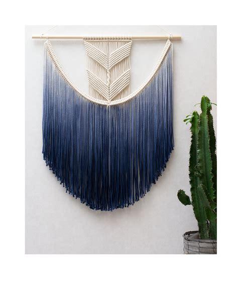 wall hanging large macrame wall hanging modern macrame dip dye ombre